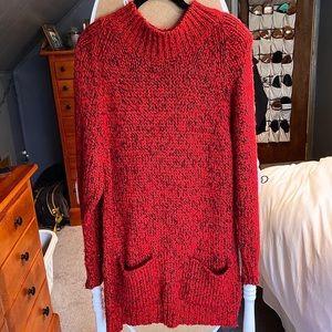 Thick Donagain Sweater Dress W/ Pockets